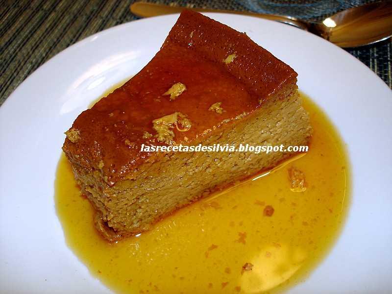 Las recetas de silvia recetas de flan casero con y sin for Ingredientes para hacer flan casero