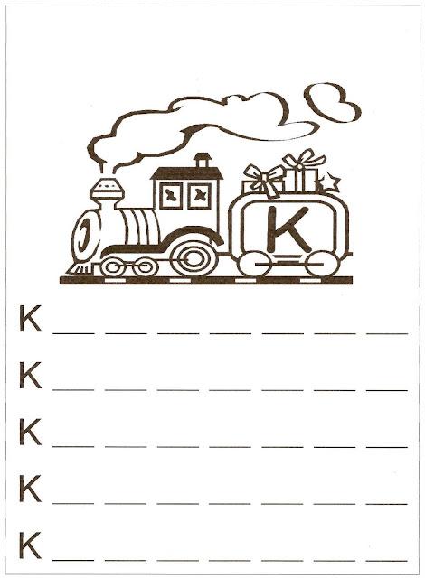 Atividades de Alfabetização coma letra K