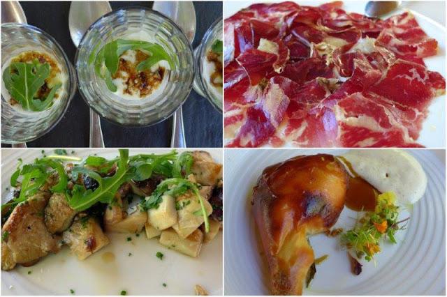 Retaurante La Salgar en Gijon – Vasitos de queso con rucula, cecina, setas, cochinillo
