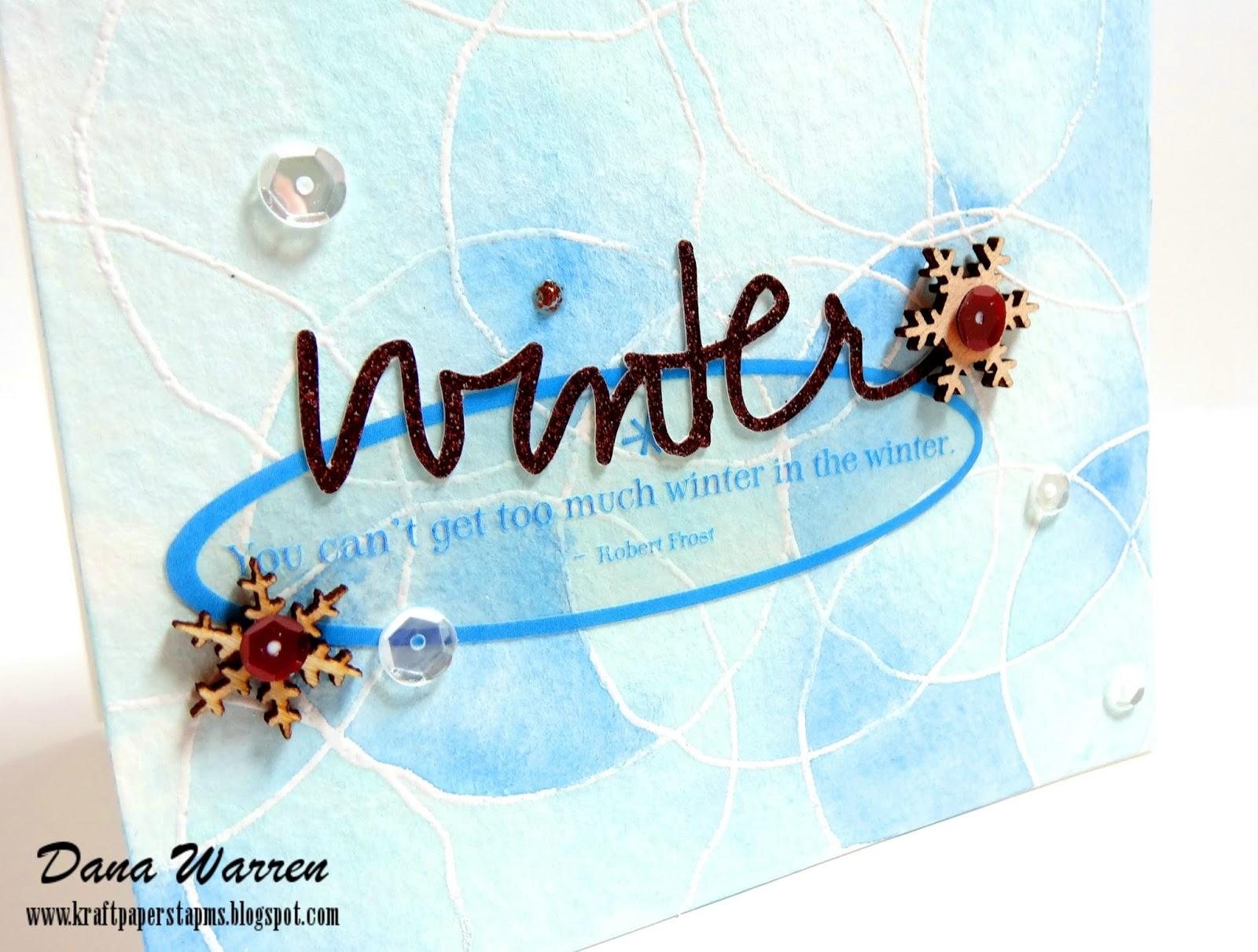 Dana Warren - Kraft Paper Stamps - Waffle Flowers
