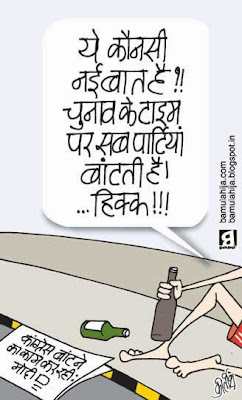 election cartoon, election 2014 cartoons, assembly elections 2013 cartoons, voter, congress cartoon, bjp cartoon