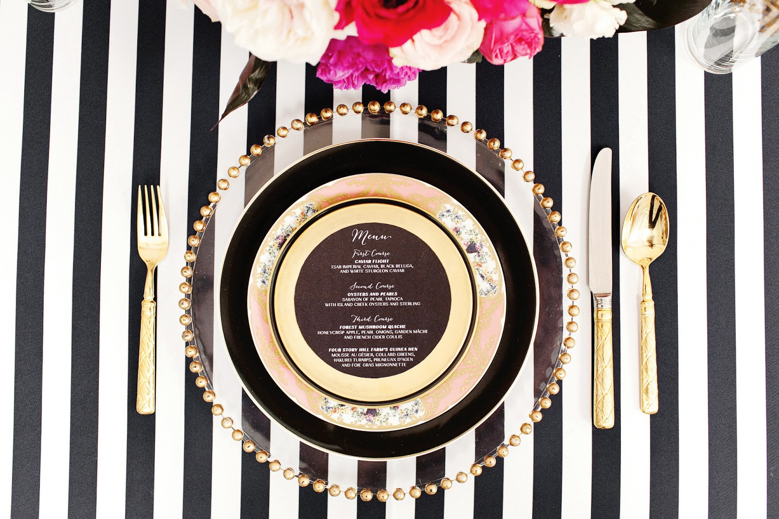 Black and white stripe charger plates -  Glass Charger Black Banded Dinner Plate Sevres Collection Dinner Plate Barcelona Gold Salad Plate Dynasty 24k Flatware Black White Striped Linen