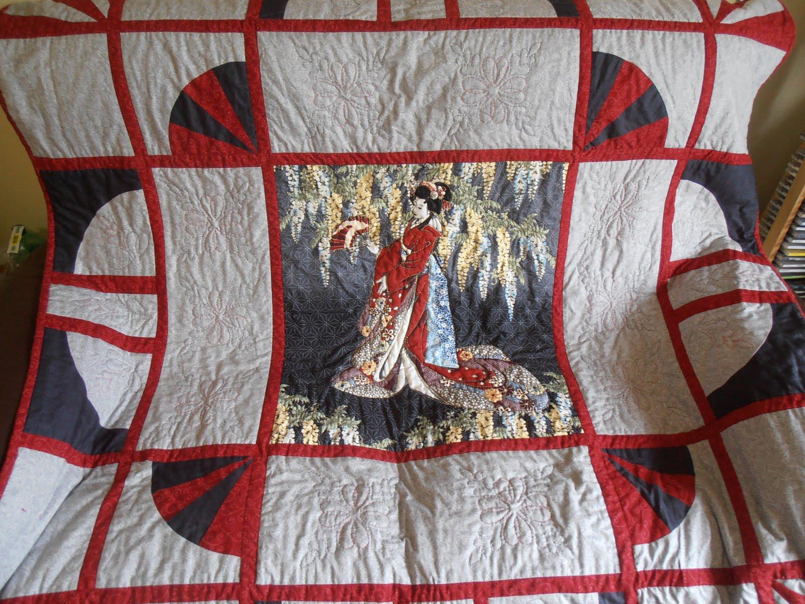 Geisha Girl Lap Quilt