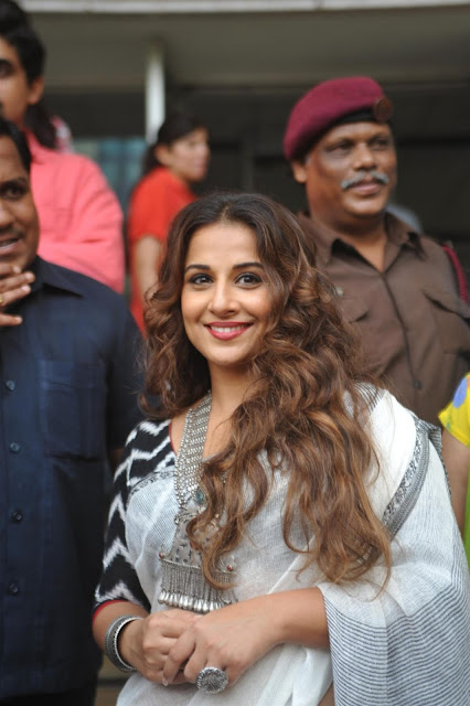 Vidya Balan during the inauguration of exhibition Chaplin Lines in Mumbai