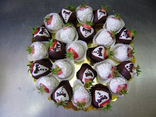 Fresas decoradas para boda