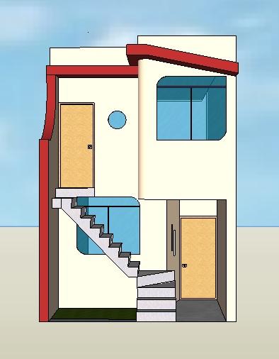 Fachadas y casas casas con fachadas de 4 metros for Fachadas de casas segundo piso