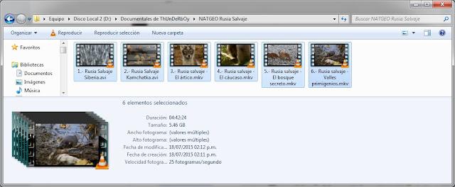 |NATGEO|5GB|Rusia Salvaje|HDrip|6/6|MEGA