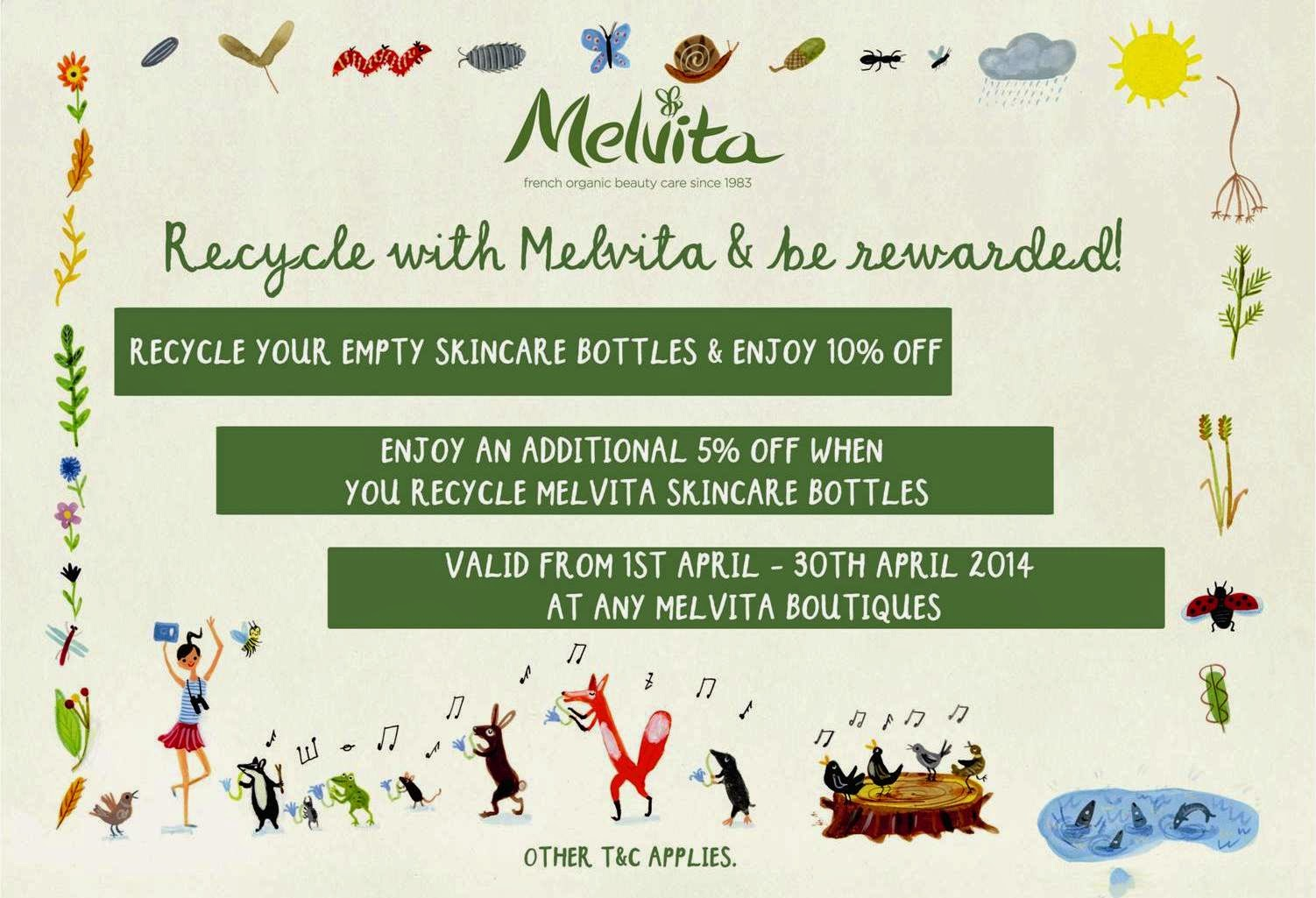 melvita, Melvita Malaysia Earth Month Recycle Initiatives, melvita earth month, melvita malaysia, recyle initiative, safe the world