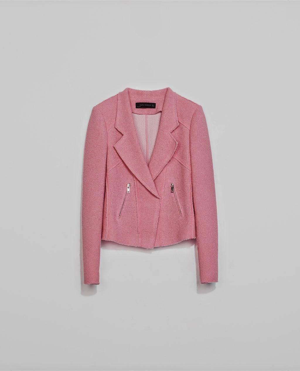 Pink jacket, Zara, street style, fashion style