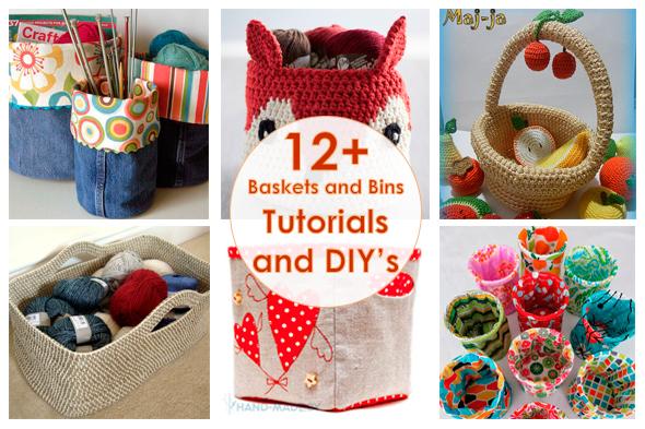 Рукодельный обзор, New Tutorials and DIY's to Try, handmade, своими руками, мастер классы, корзинки, baskets and bins