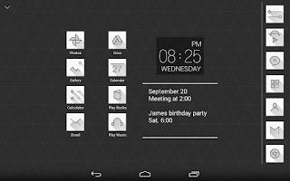 Atom Launcher - Aplikasi Thema Android terbaik dengan Material Design