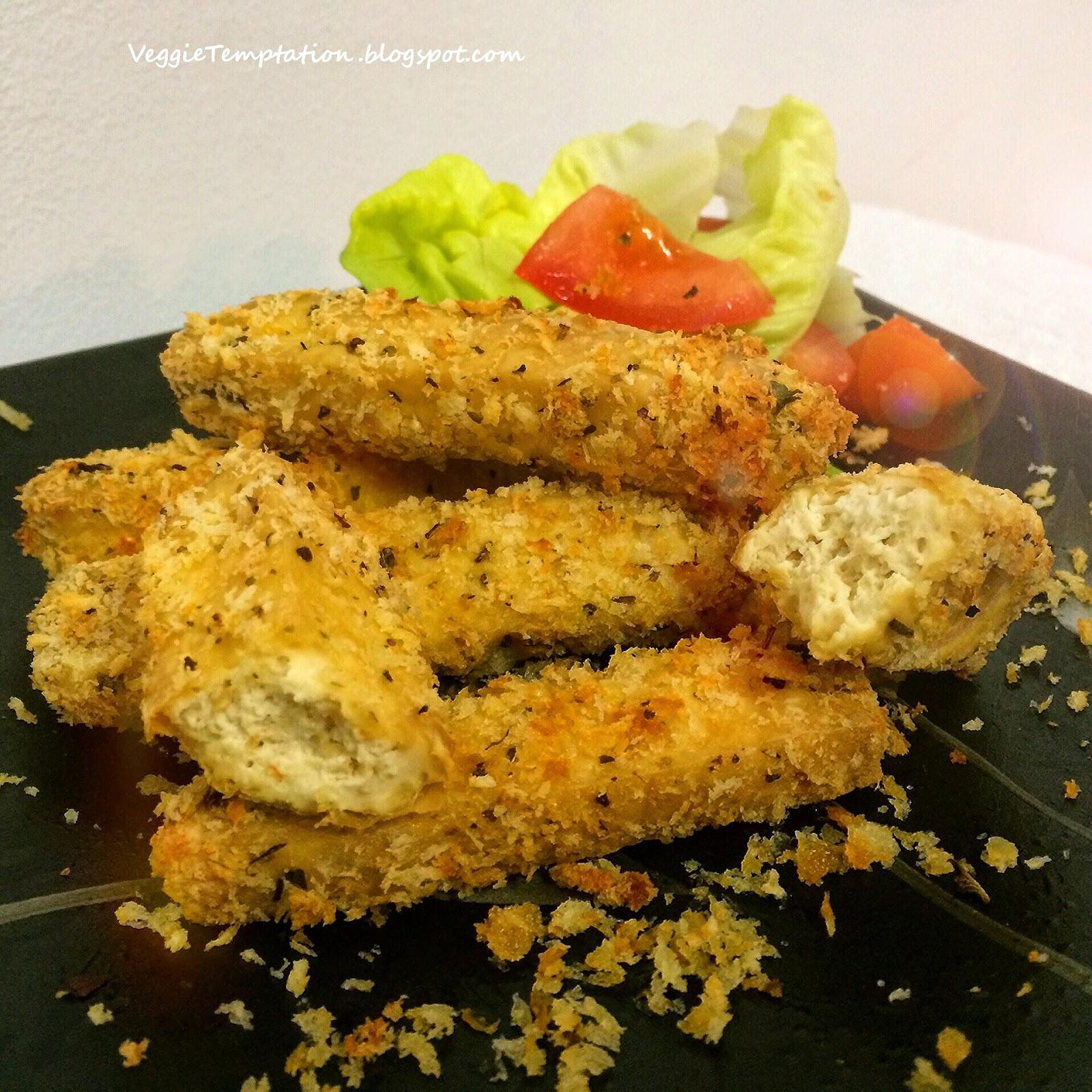 ... Veggie Temptation: Vegan Baked Tofu Cheese Finger (Oven & Air Fryer