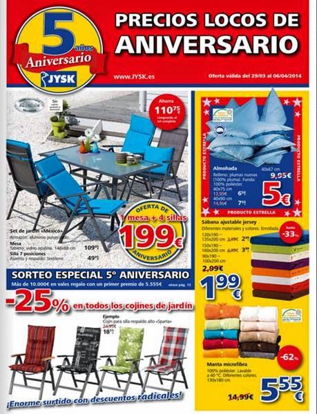 jysk precios locos de aniversario 2014