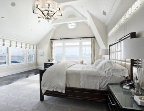 white master bedroom suite in water mill residence real estate property