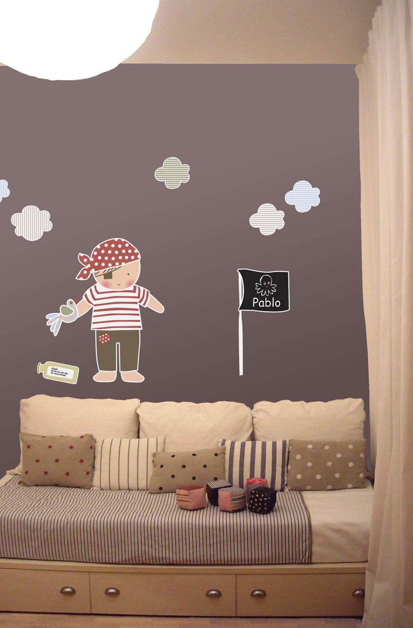 vinilos infantiles personalizados pirata pablo On vinilos infantiles personalizados