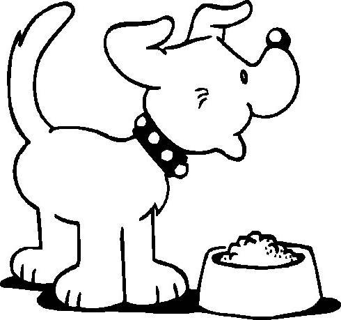 desenho de cachorro comendo para colorir desenhos para colorir