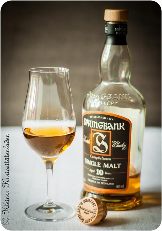 Springbank Single Malt - nicht im Whiskylikör drin, aber die Flasche ist schick ;o)