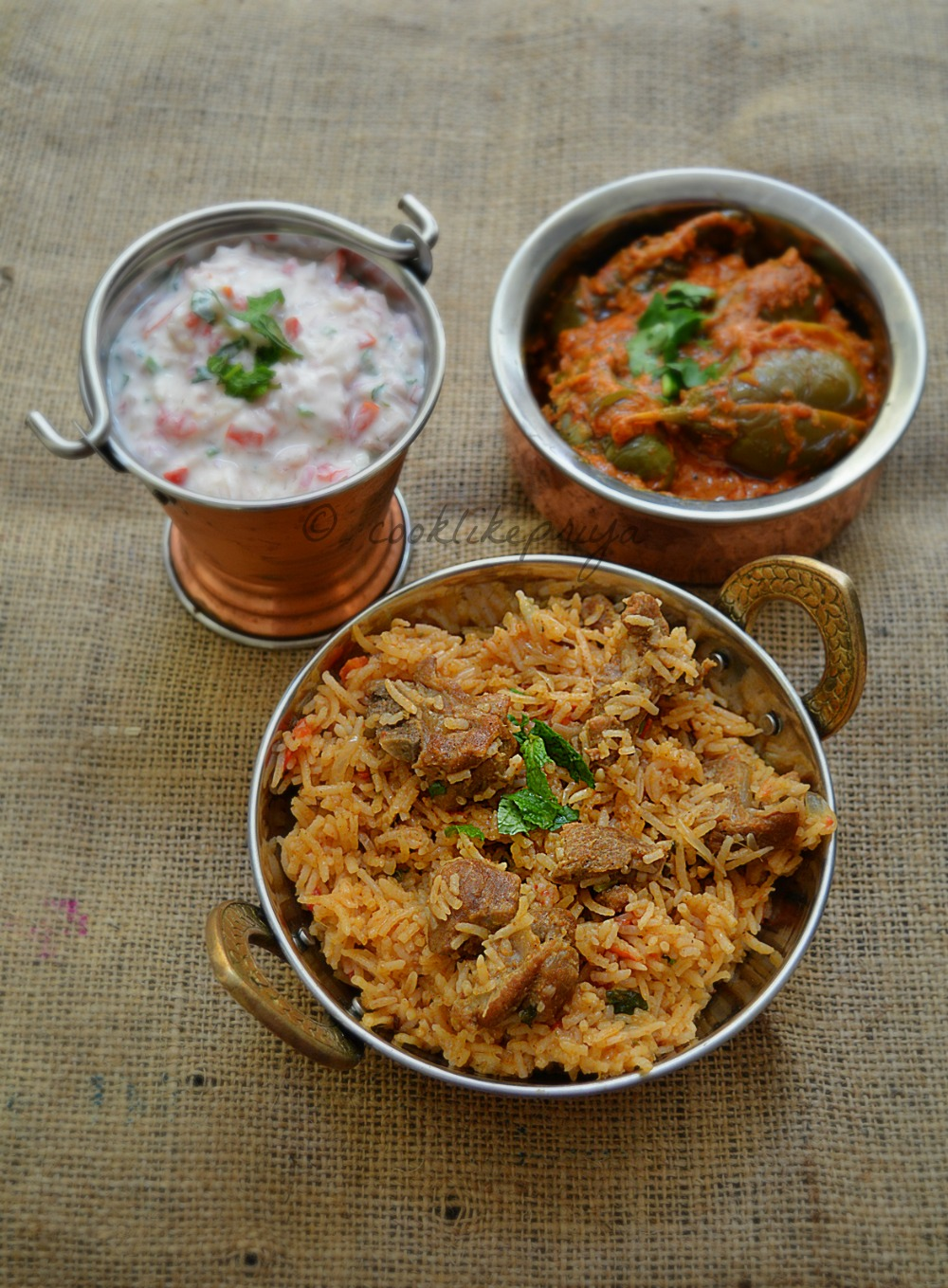 Tamil style Mutton/Goat Biryani