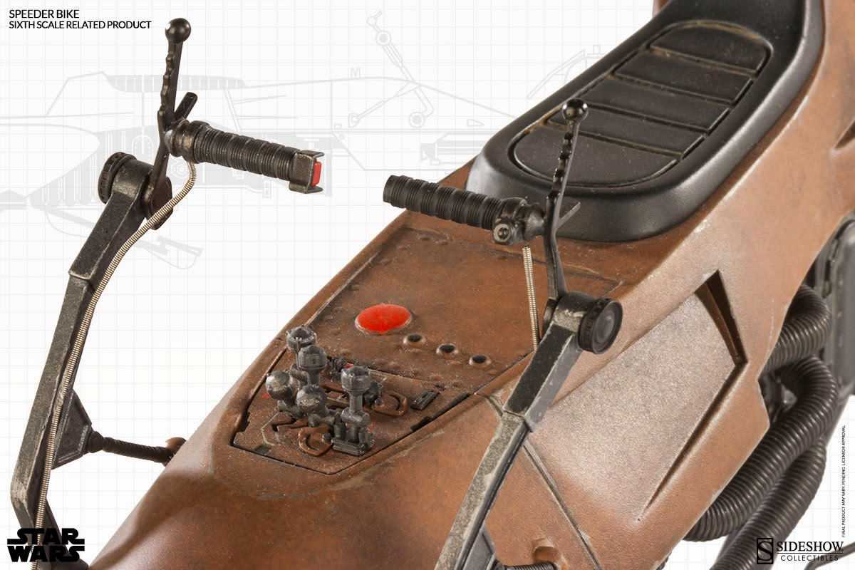 Vi return of the jedi 1 6 scale speeder bike by sideshow collectibles