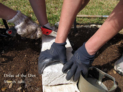 DivasoftheDirt,sawing stone blocks