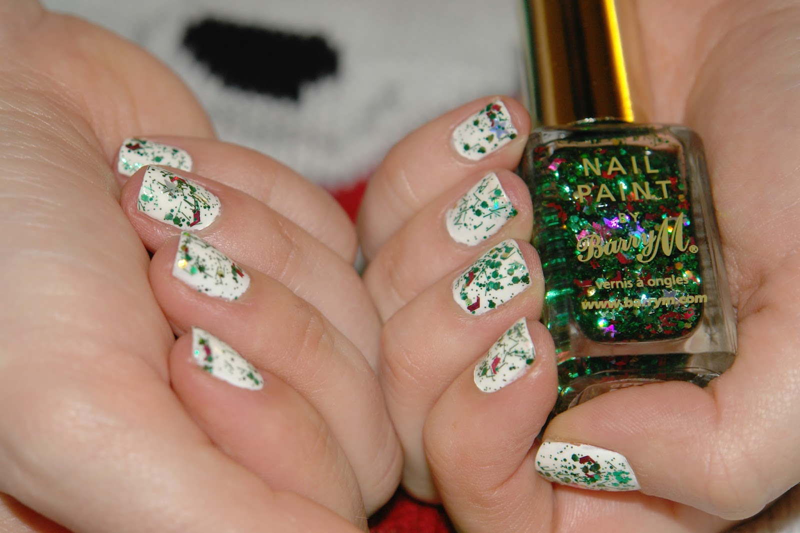 NAILS: Christmas edition, Barry M, nail polish, nails, NOTD, Christmas, glitter, Barry M Christmas Tree, swatches, beauty blogger