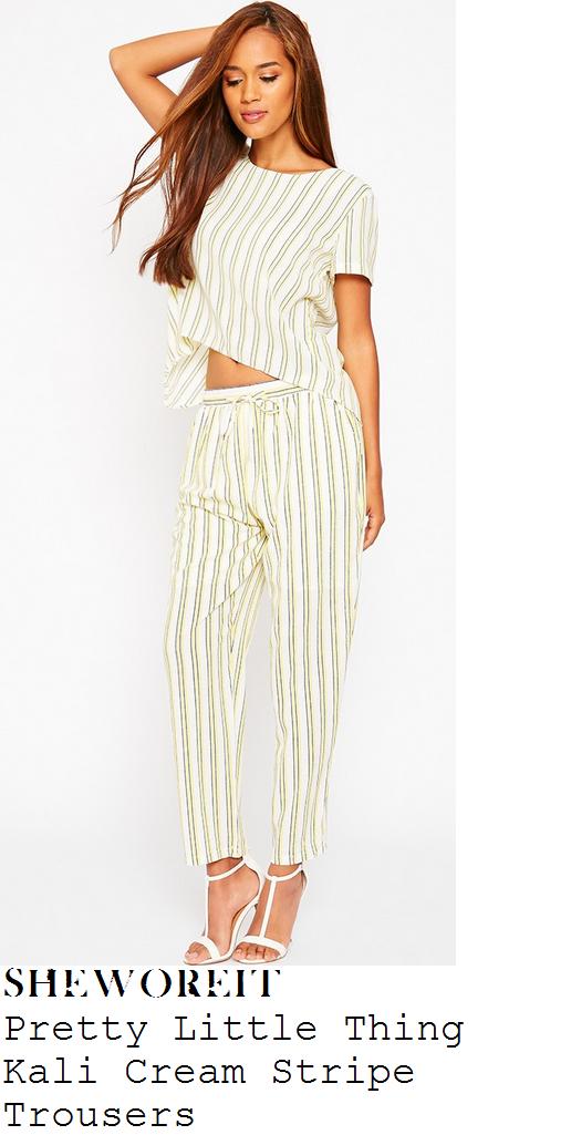 leigh-anne-pinnock-cream-black-stripe-trousers
