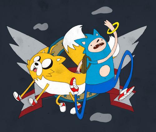Crossover de Hora de Aventuras y Sonic