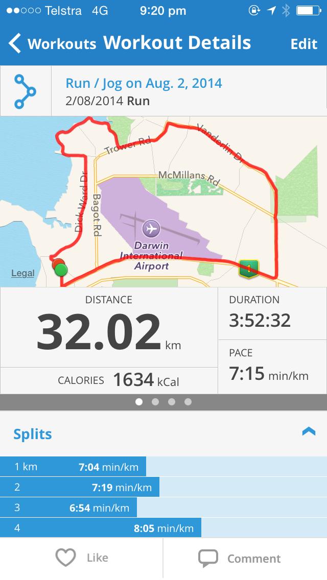 32kms, 20 miles, long run, marathon training, 12wbt, running, exercise, weight loss, first marathon