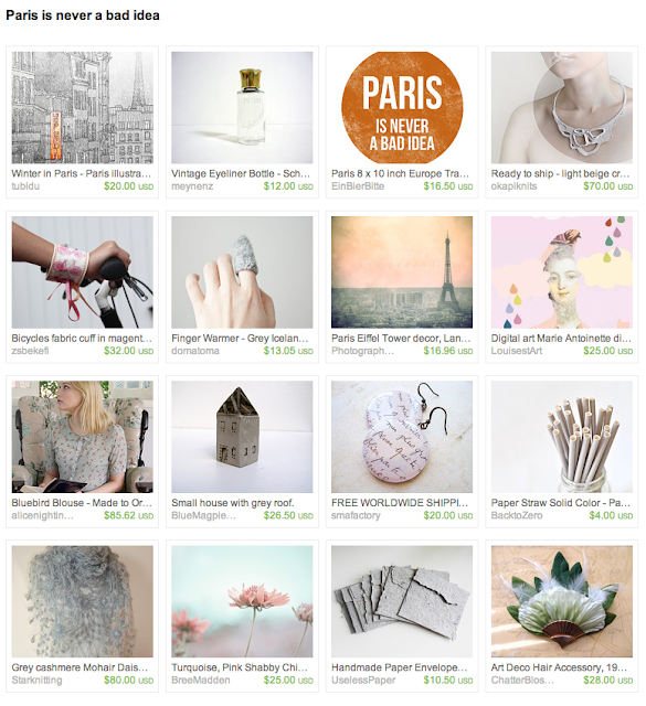 Curated items based on Paris and French femininity
