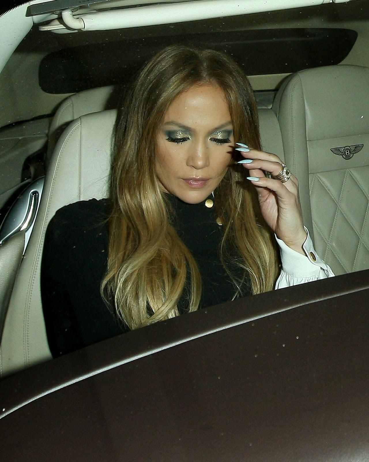 Singer, Actress @ Jennifer Lopez - STK Steakhouse in LA in short Dress