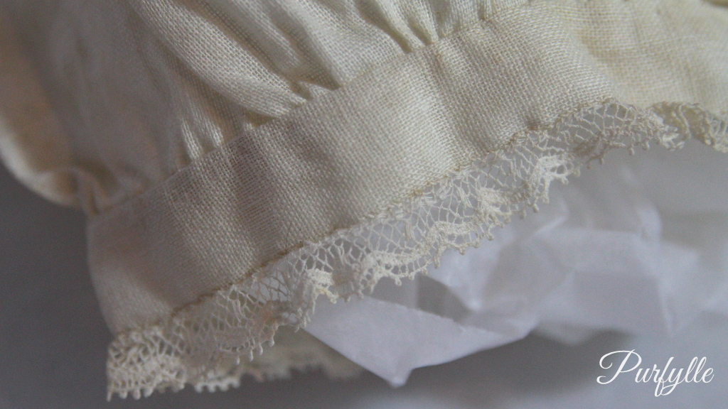 leg opening with lace trim 1927 underwear