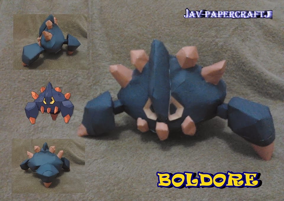 Pokemon Boldore Papercraft