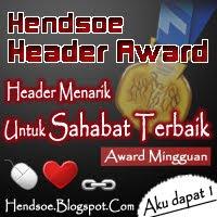 Hendsoe Blog Header Award