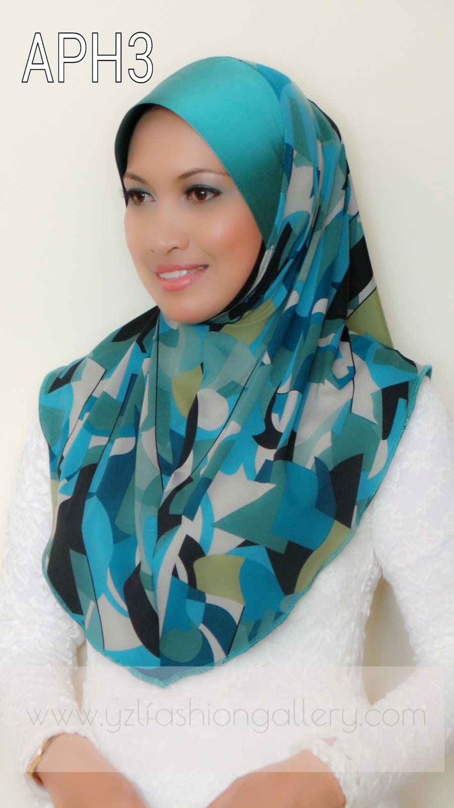 Yzl Fashion Gallery Tudung Lycra Printed Awning Thai Silk