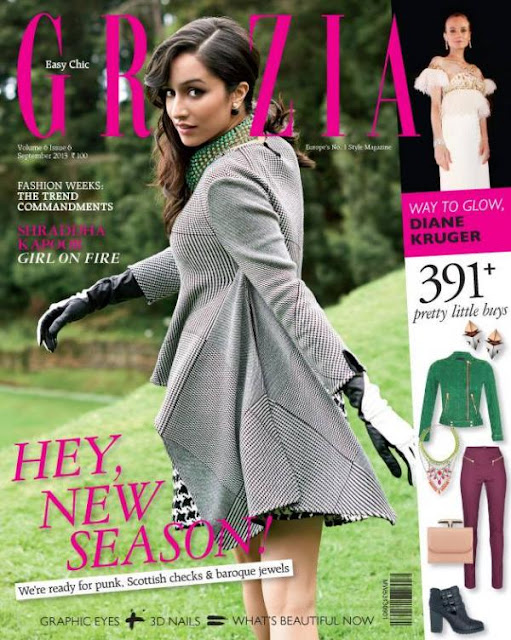 Shraddha Kapoor Aashique 2 Girl on the covers of Grazia
