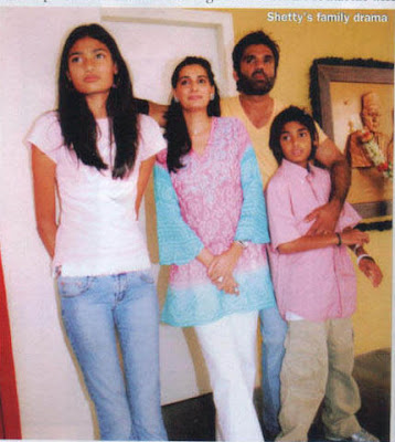 Sunil shetty wife and kids picture