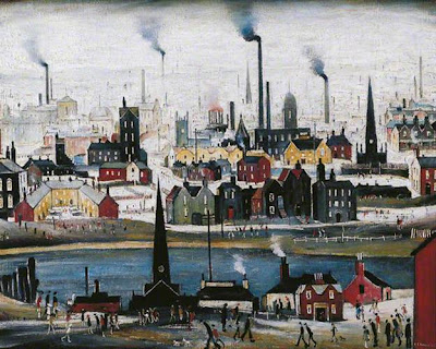 Laurence Stephen Lowry - The canal bridge, 1949