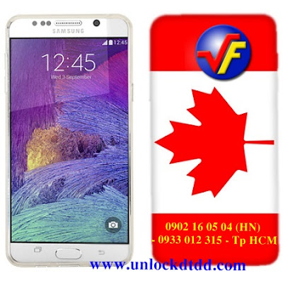 Can bao nhieu tien de be khoa mo mang samsung galaxy note 5 N920W8 xach tay tu Canada