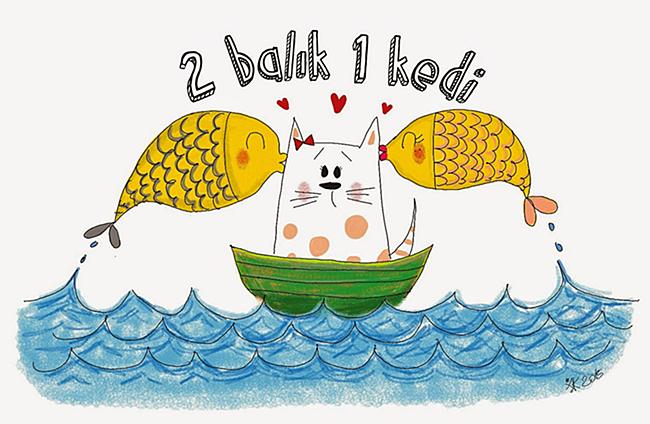 2 Balık 1 Kedi
