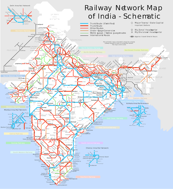 Trains Between Stations Indian Railway Map