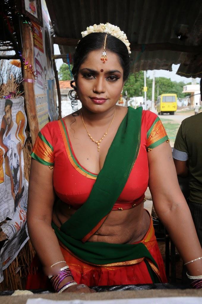 Mallu Aunty Hot Stills Saree Below Navel Show - SAREE