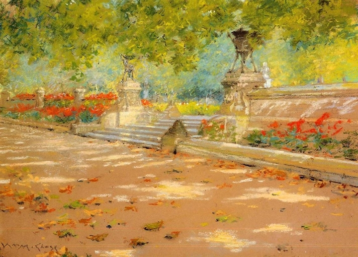 William Merritt Chase 1849-1916 | American Impressionist painter | The Plein Air Scenes
