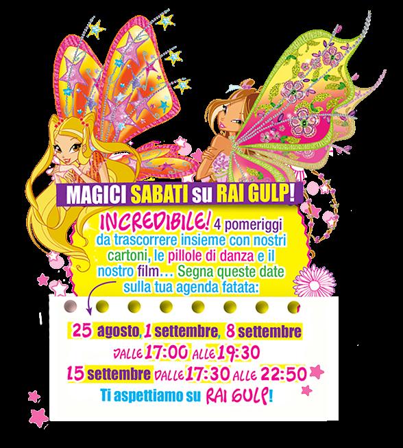 Magici Sabati Su Rai Gulp Con Winx Club Winx Club