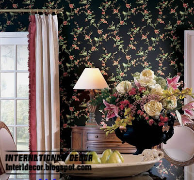 classic wall covering black floral Black wall coverings designs, black wall coverings 2013