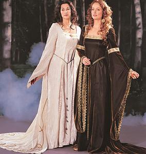 devilinspired medieval dresses basic patterns applied in