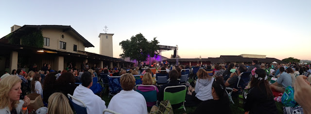 concert at Mondavi Winery