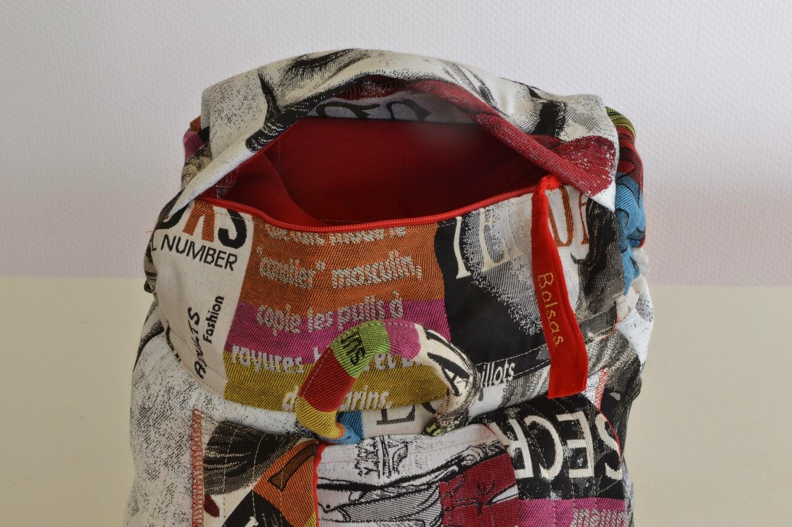 Bolsas-Tassen, unieke handgemaakte tassen, rugzak, Femke