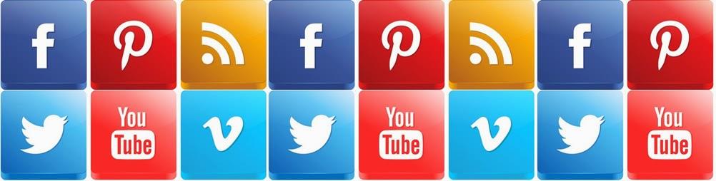 Botões das redes sociais no blog guia completo