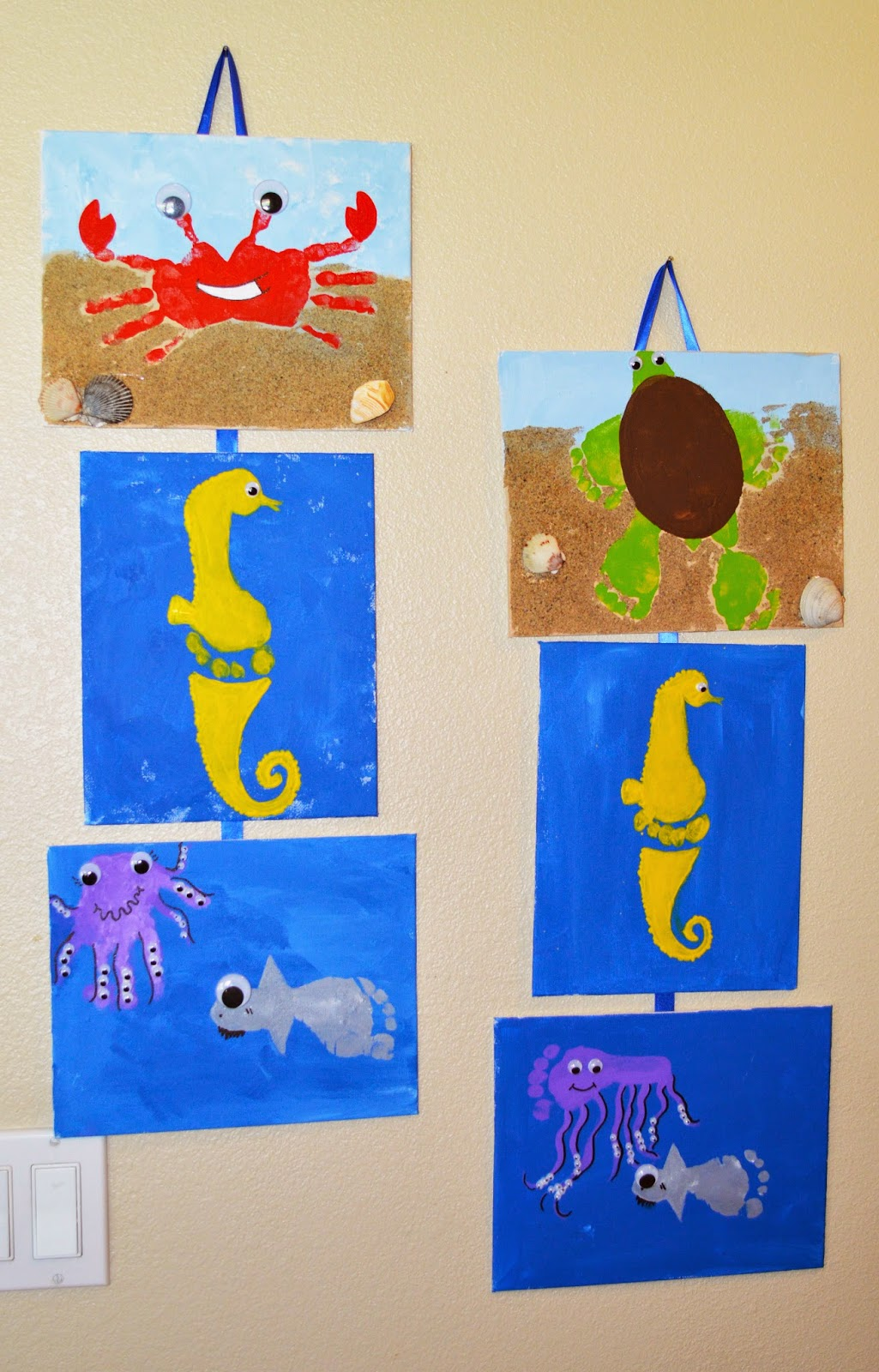Summer and sea hand and footprint craft for Hand and foot crafts