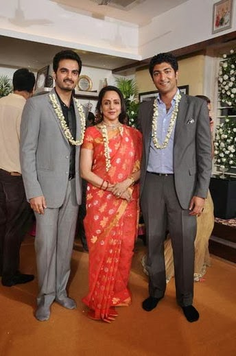 Hema malini with son in laws